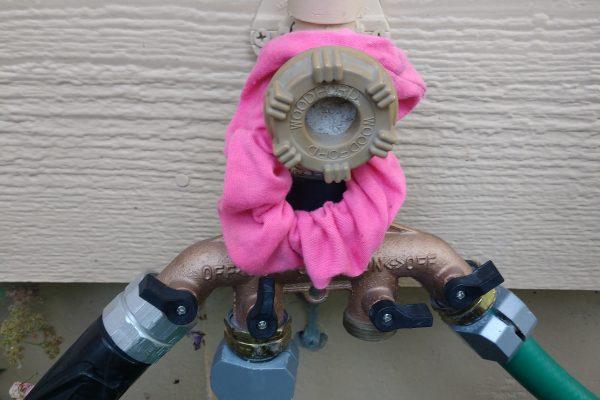 hose bib with scrunchie