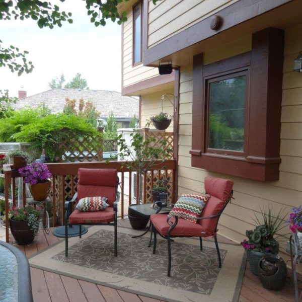 My Back Deck - another photo from a different year.
