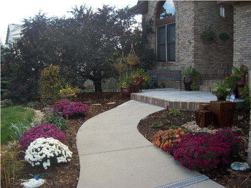 My Front Walkway with Fountain