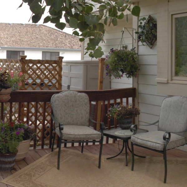 My Back Deck - a comfortable place to sit with lots of plants